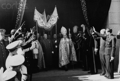 1941 requiem of the late King Alphonso XIII under a canopy and accompanied by the bishop