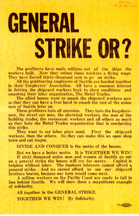 General Strike IWW flyer_UW Special Collections